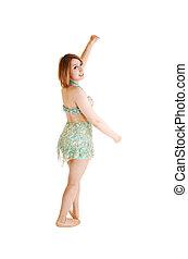 Ballet girl standing.