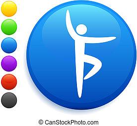 ballet icon on round internet button