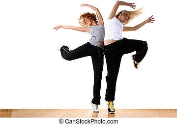 ballet, mujer, salón de baile, moderno, bailarín, deporte