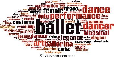 ballet, palabra, nube