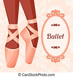 ballet,  pointe, exposition, danse,  invitation, carte
