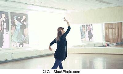 ballet, pratiquer, studio danse, 4k, gracieux, girl