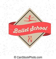 ballet, school, ontwerp