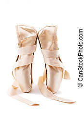 ballet shoes 2 - brand new ballet shoes on a white...