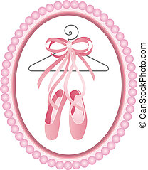 Ballet shoes label - Scalable vectorial image representing a...