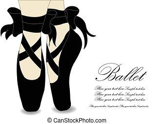 Ballet shoes, Vector illustration