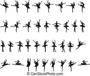 ballet, silouettes