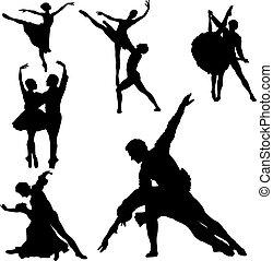 ballet, siluetas