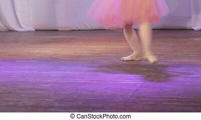 On stage legs dancing ballet single