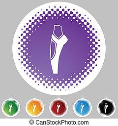 Ballet Slipper - Ballet slipper icon button symbol isolated...