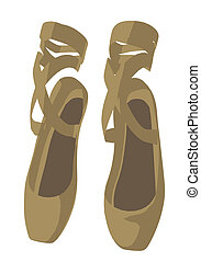 Ballet Slippers - Ballet slippers on a white background