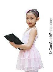 ballet, tablette, usage, girl