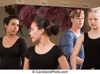 Ballet Teacher with Students