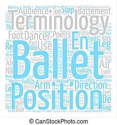 Ballet Terminology text background word cloud concept