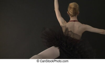 ballet, vertragen, -, motie, danser, tutu