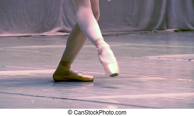 Ballet - Slow Motion at a rate of 240 fps. Ballerina shows...