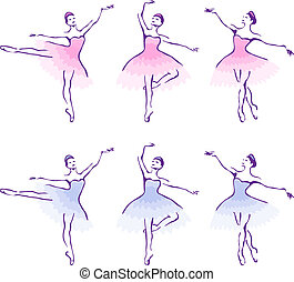 ballet, woman-dancers.