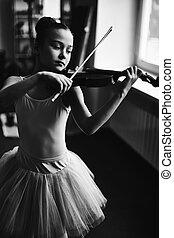 ballet, y, música