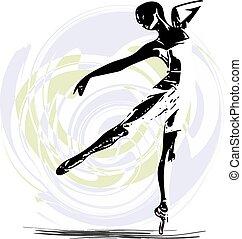 balletdanseren, illustration