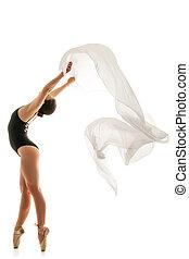 ballettänzer, silhouette, frau