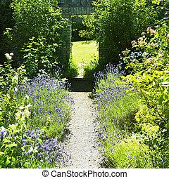 ballinlough, jardines, condado, irlanda, castillo, westmeath