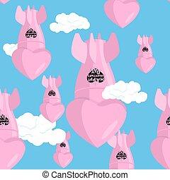 ballistic missile bomb love. Aerial bombardment of love. ...