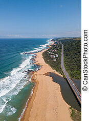 Ballito  Kwazulu Natal  South Africa - Aerial view of the ...