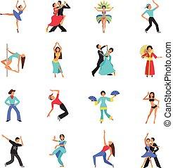 ballo, appartamento, icona