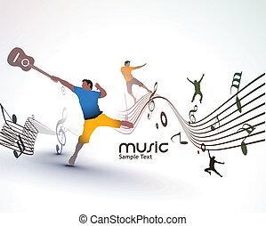 ballo, astratto, musica, fondo