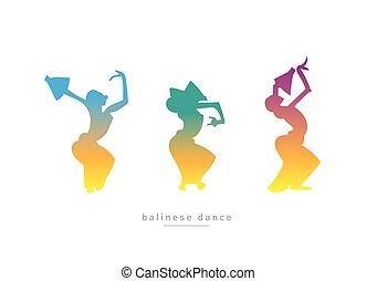 ballo, balinese, ragazze, tre, ballo