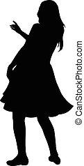 ballo, ballerino, silhouette, pancia