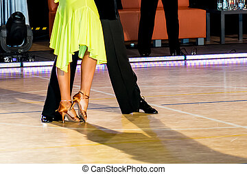 ballo, coppia, latino, ballo