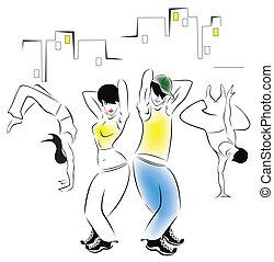 ballo, giovani persone