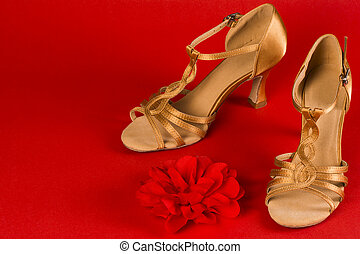 ballo, latino, scarpe