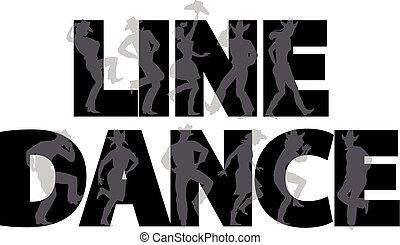 ballo, linea, bandiera