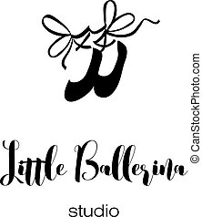 ballo, logotipo, concetto, studio, kids.