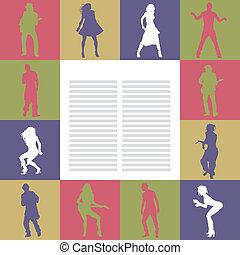 ballo, scheda, persone