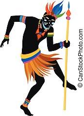 ballo, uomo, etnico, africano
