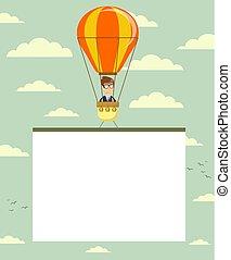 ballon air chaud, banner.