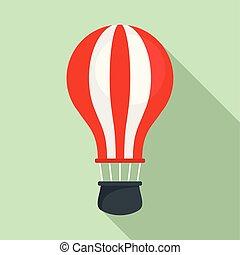 Ballon air icon, flat style