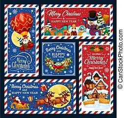 ballon, ar, presentes, santa, sleigh, xmas