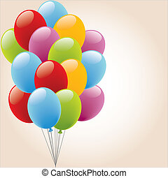 Ballon - Birthday, Anniversary, happy, voucher, carnival, ...