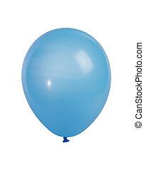 ballon bleu, blanc, isolé