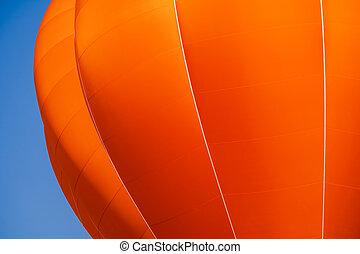 ballon bleu, ciel, fond