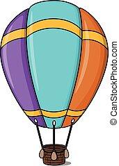 ballon, cartone animato, illustrazione, aria