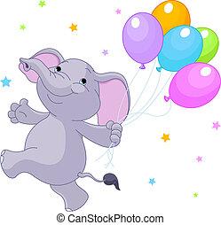 ballons, éléphant