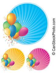 ballons, achtergrond