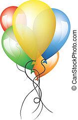 ballons, coloré