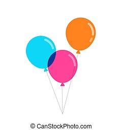 ballons colorés, vecteur, illustration