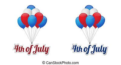 ballons, dag, onafhankelijkheid